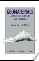 Geomaterials: Constitutive Equations and Modelling