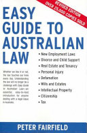 Cover of Easy Guide to Australian Law