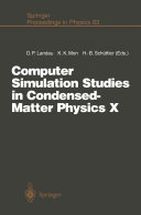 Computer Simulation Studies in Condensed Matter Physics X