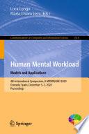 Human Mental Workload  Models and Applications
