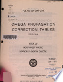 Omega Propagation Correction Tables for 3.4 KHz