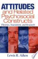 Attitudes and Related Psychosocial Constructs Book