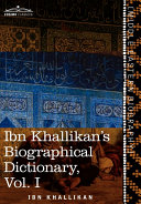 Ibn Khallikan's Biographical Dictionary Book