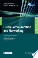 Green Communication And Networking Book