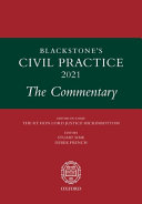 Blackstone s Civil Practice 2021  the Commentary