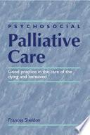 Psychosocial Palliative Care Book PDF