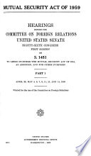Mutual Security Act Of 1959