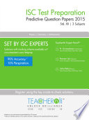 TeacherNi ISC Predictive Question Papers | Std.XII: 3 Subjects (Physics, Chemistry, Maths)