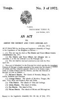 The Laws of the Kingdom of Tonga