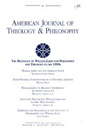 American Journal of Theology   Philosophy