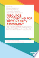 Resource Accounting for Sustainability Assessment Book