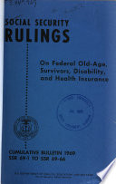 Social Security Rulings on Federal Old age  Survivors  Disability and Health Insurance Book