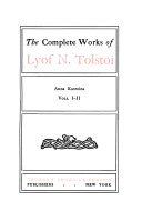 The Complete Works of Lyof N  Tolstoi  Anna Karenina