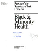 Report of the Secretary s Task Force on Black   Minority Health  Infant mortality and low birthweight