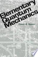 Elementary Quantum Mechanics Book PDF