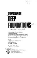 Symposium On Deep Foundations Book PDF