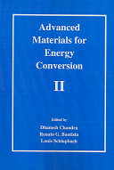Advanced Materials for Energy Conversion II