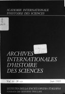 Archives Internationales D'histoire Des Sciences