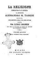 La religione dimostrata e difesa da monsignor Alessandro M. Tassoni