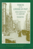 Voices of the American Past  Since 1865