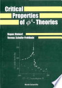 Critical Properties of Phi4-Theories
