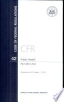 Code Of Federal Regulations Title 42 Public Health Pt 482 End Revised As Of October 1 2012