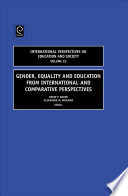 Gender  Equality and Education from International and Comparative Perspectives