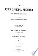 The Iowa Official Register for the Years ...