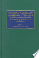 African American Authors 1745 1945 Book PDF