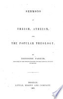 Sermons of Theism  Atheism  and the Popular Theology