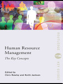 Human Resource Management  The Key Concepts