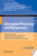 Information Processing and Management Book
