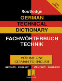 Pdf German Technical Dictionary Telecharger