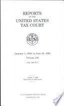Reports of the United States Tax Court