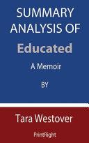Summary Analysis Of Educated Book PDF