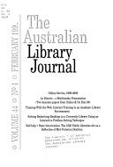 The Australian Library Journal Book