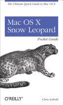 Mac OS X Snow Leopard Pocket Guide [Pdf/ePub] eBook