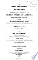 The Public and General Statutes Passed by the Congress of the United States of America