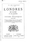 Londres en poche, et ses environs. Guide pratique illustré, etc. [With a map.]