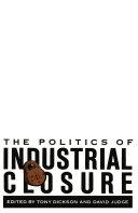 Politics of Industrial Closure [Pdf/ePub] eBook