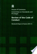 Review of the code of conduct