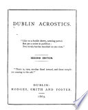 Dublin acrostics