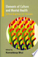 Elements of Culture and Mental Health Book