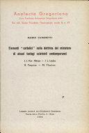 """Elementi """"cattolici"""" nella dottrina del ministero di alcuni teologi calvinisti contemporanei"""
