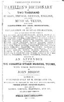 Hamilton s Catechism on the art of writing for an Orchestra  and on playing from score  Third edition     enlarged by J  Bishop