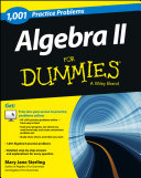 Algebra II  1 001 Practice Problems For Dummies    Free Online Practice