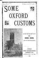 Pdf Some Oxford Customs