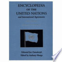 Encyclopedia Of The United Nations And International Agreements T To Z