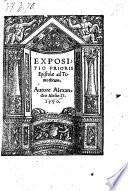 Expositio Prioris Epistolae ad Timotheum
