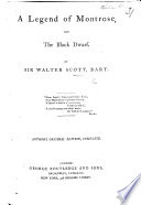 A Legend Of Montrose And The Black Dwarf Author S Original Edition Complete